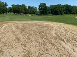 Completed Aerification Hole 1 Green