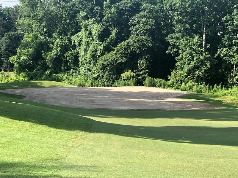 Completed Surface Preparation Hole 16 Green