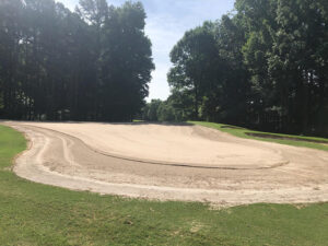 Completed Surface Preparation Hole 3 Green